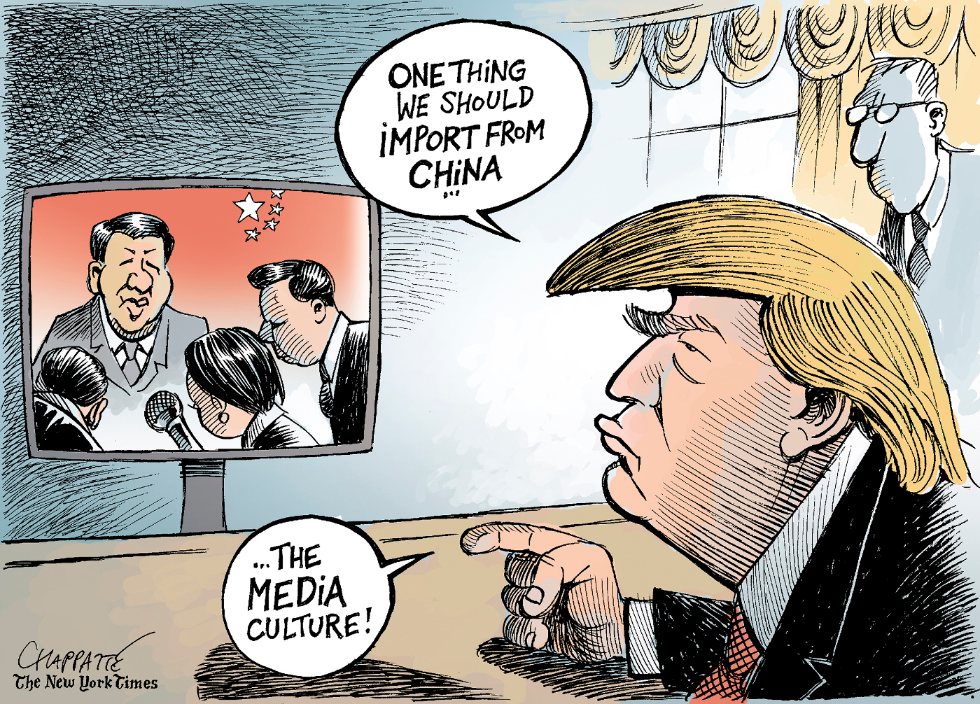 Trump and the media | Chappatte Cartoons