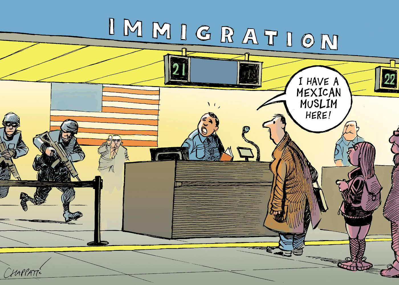 immigration restrictions chappatte cartoons