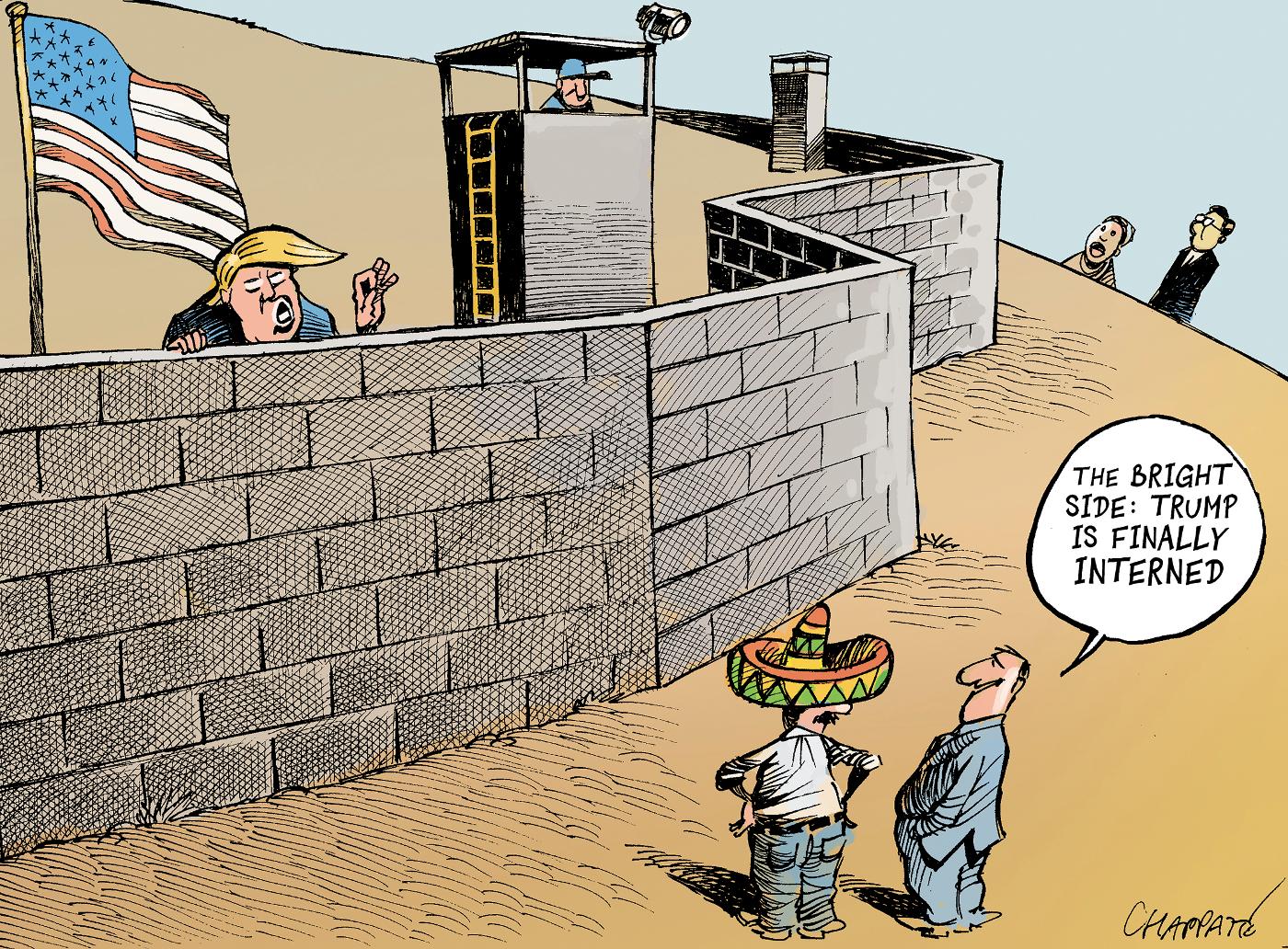 Trump's wall | Chappatte Cartoons
